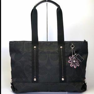 Coach signature Daisy tote crossbody briefcase EUC